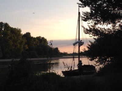 Balade en Loire au crépuscule